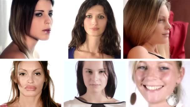 ritratti di donne, collage