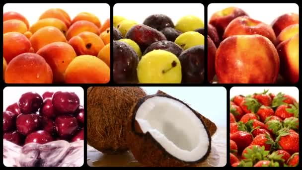 letní plody, koláž