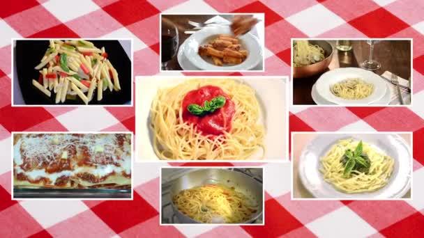 italské těstoviny, složení s ubrus