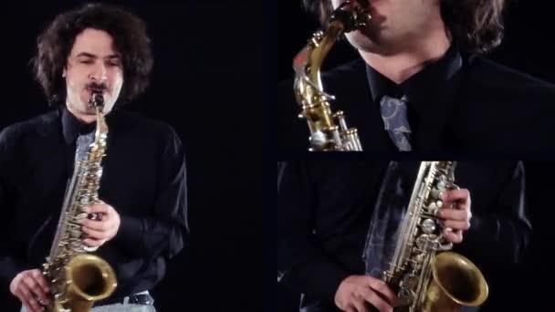 Saxofonspieler-Collage