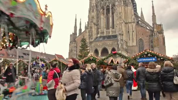Christmas market in ulm, germany
