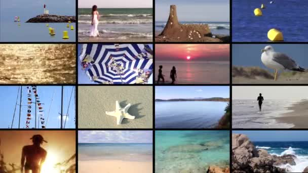 Seaside vacations, collage