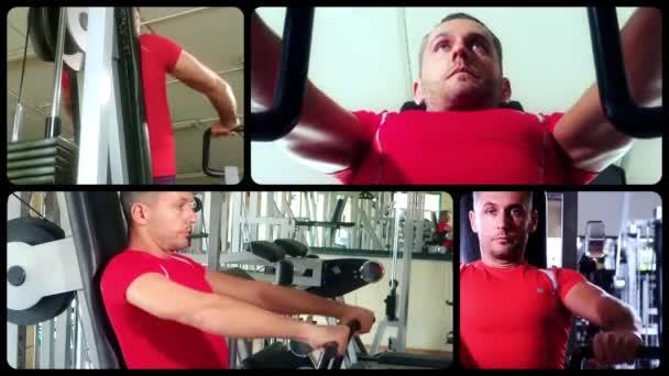 στήθος μηχανή ασκήσεις, κολάζ