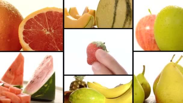 lédús gyümölcsök, kollázs