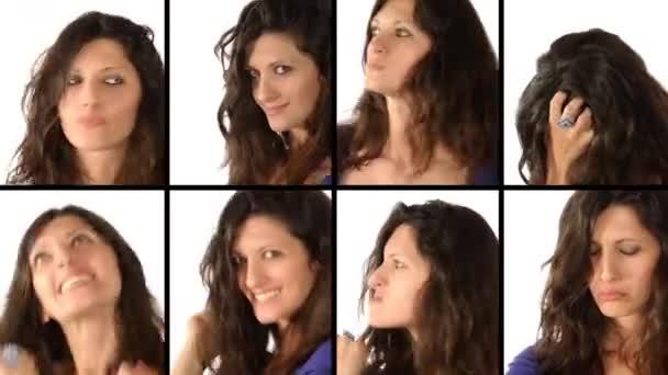 žena: mimika koláž