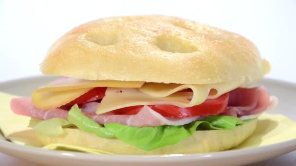 Ham and cheese focaccia
