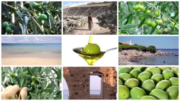 mediterrán olíva kollázs