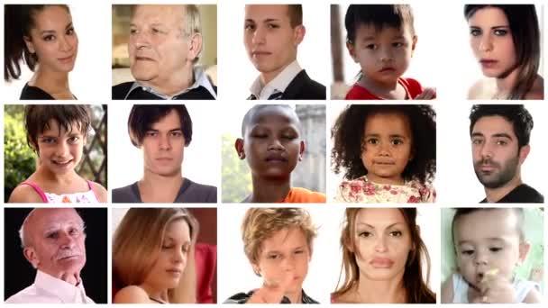 koláž z lidí různých rasových a etnických pozadí