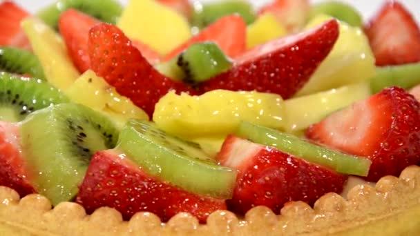 koláč ovoce zblízka
