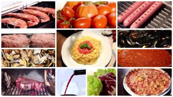 koláž různých jídla