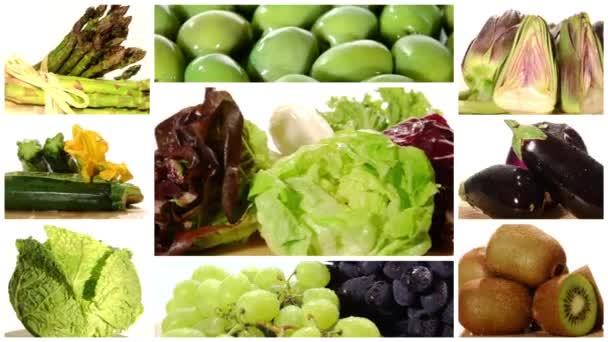 zelené a červené zdravé jídlo