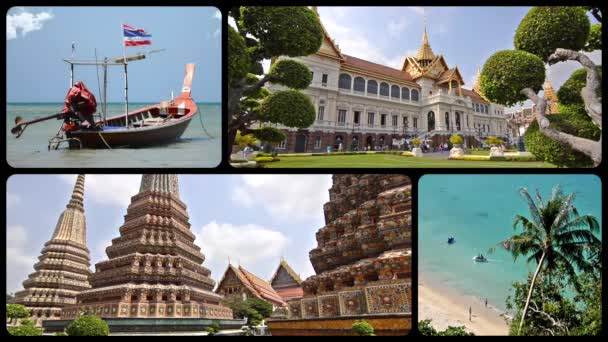 Thailand montage, art, culture, nature and wonderful sea