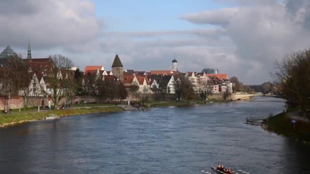 Ulm und Donau-Fluss