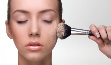 Natural beauty with make-up brush