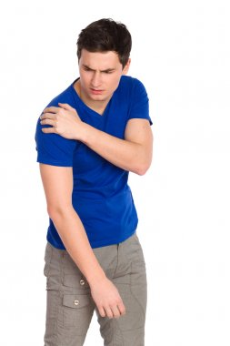 Pain in a shoulder.