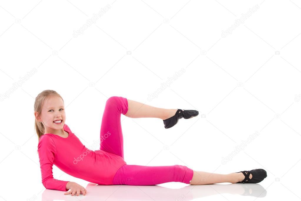 Little girl exersise