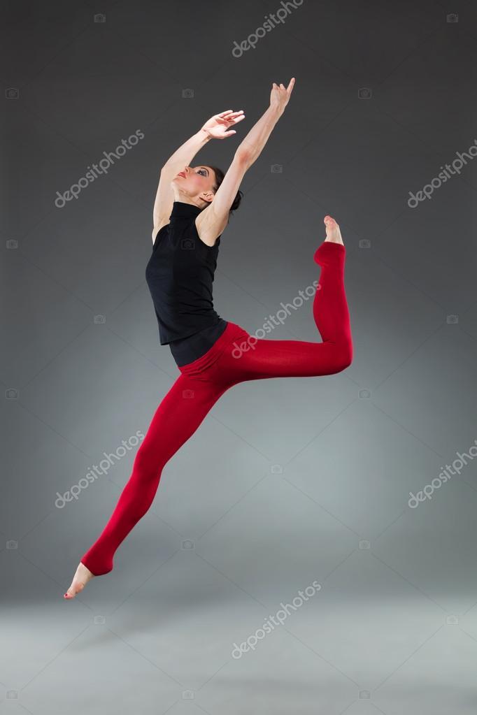 Female dancer jumping