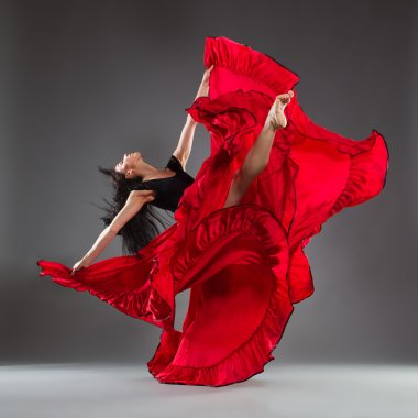 Red dress and dance emotions