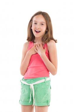 Delighted little girl