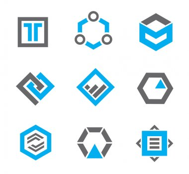 Perfect logo template and icon detail for serious business companies