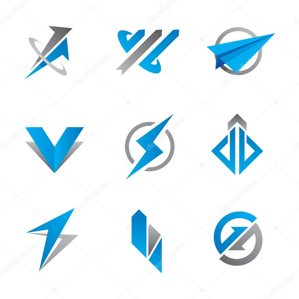 Fast clean professional business and economy finance symbol