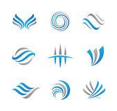 Fényképek Absztrakt logó sablon készlet üzleti gazdaságpolitika, pénz-és utazási iroda
