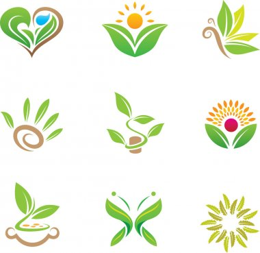 World of healthy green nature for smart people logo template