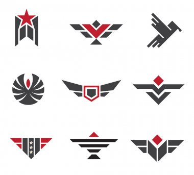 Army and military badges and strength symbols logo symbol
