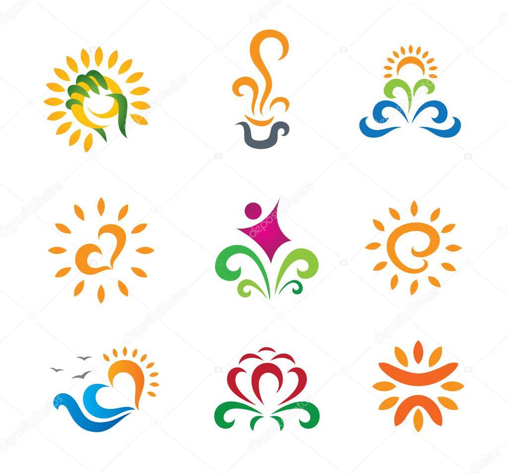 Beautiful nature modern retro symbols for business logo symbol