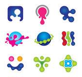 szociális logo közösségi boldogságot festmény színei