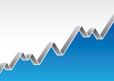 Stock market economy business success logo background