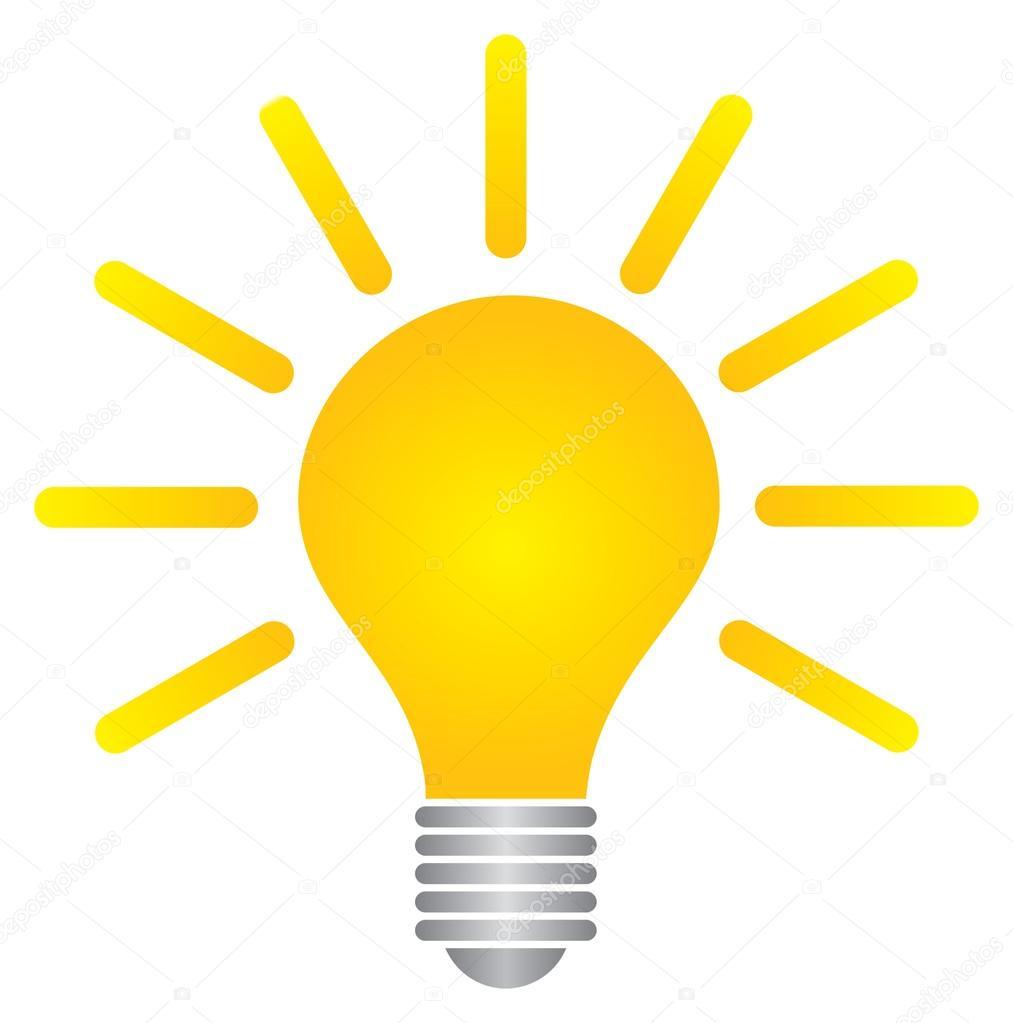 Bulb success idea logo template — Stock Vector © maximillion11