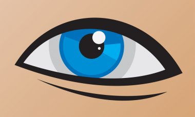 Human beautiful blue eye logo template