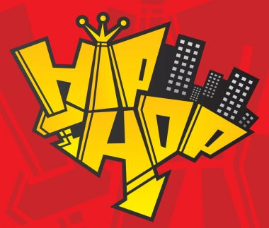 Hip hop latter symbol of urban culture being reborn logo template