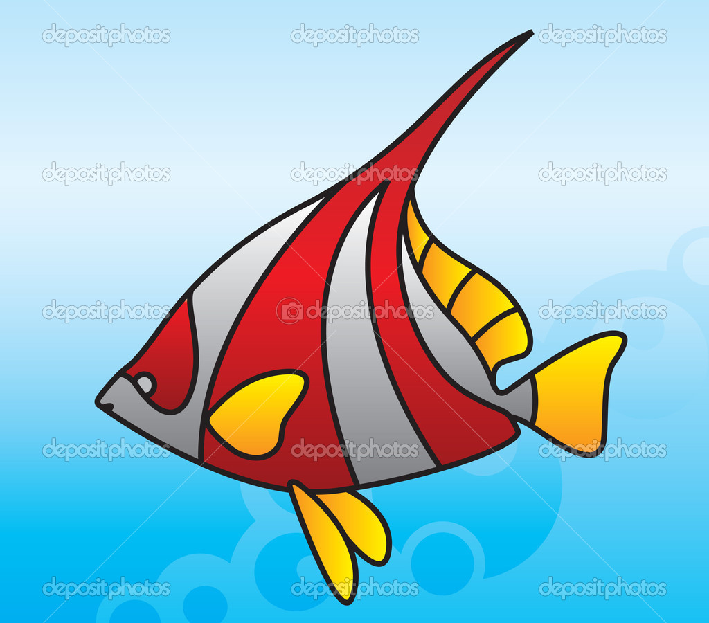 Colorful fish swimming in the ocean — Stock Vector © maximillion11 ...