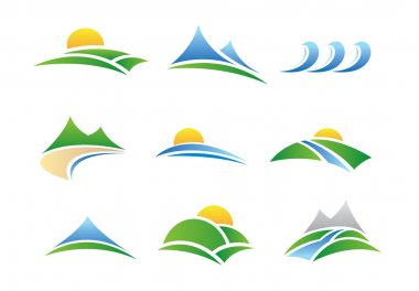 Nature landscape mountain hill and wave or river experiance stock vector