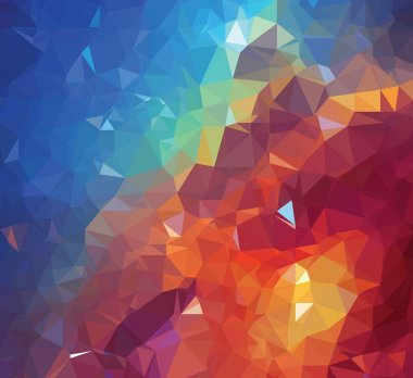 Background modern texture triangle geometry colorful galaxy painting