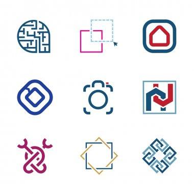 Creative puzzle edit future IT software  technology development company logo