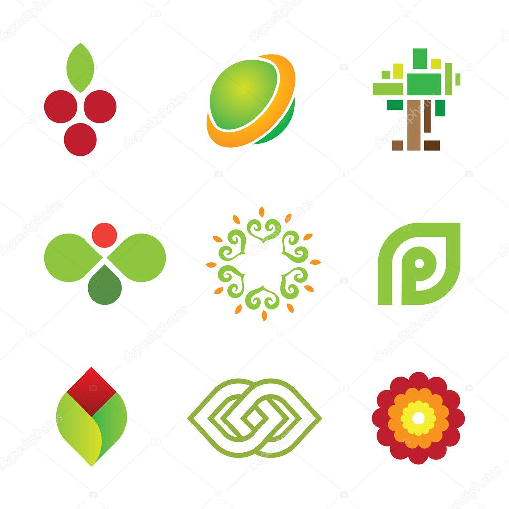 Sweet fruit of green nature safe world community logo icon