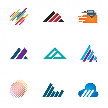Line inspiration professional design symbol fast triangle logo speed icons