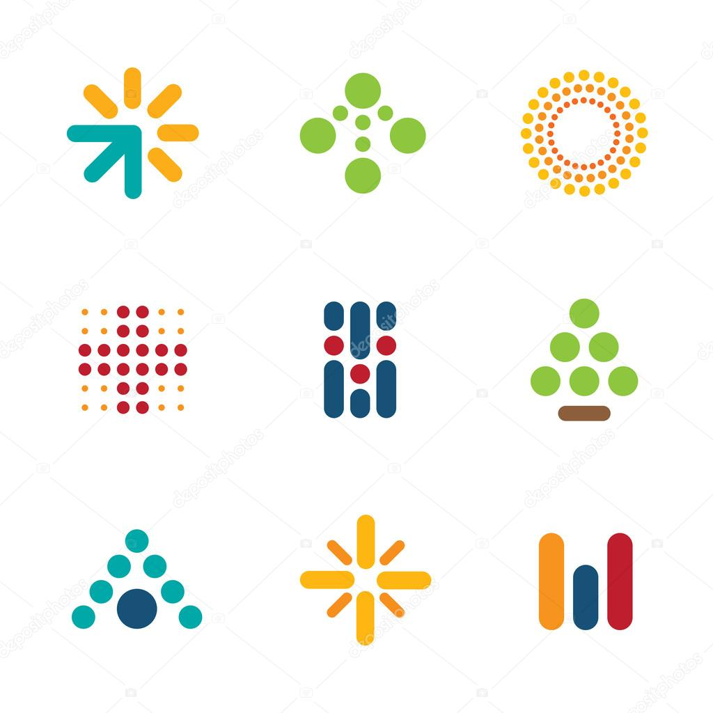 Dot logo set symbol arrow success progress icon help vector stock dot logo set symbol arrow success progress icon help vector stock vector buycottarizona Image collections