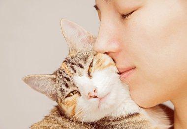 Woman and feline