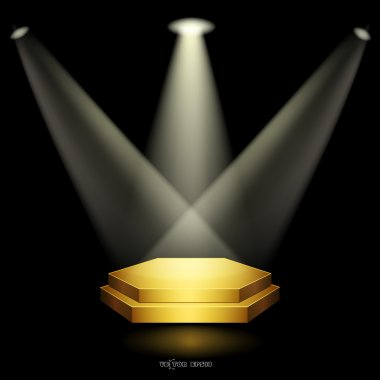 Golden podium floodlighting