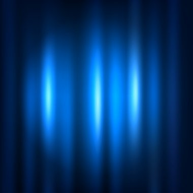 Blue curtain with spot light.