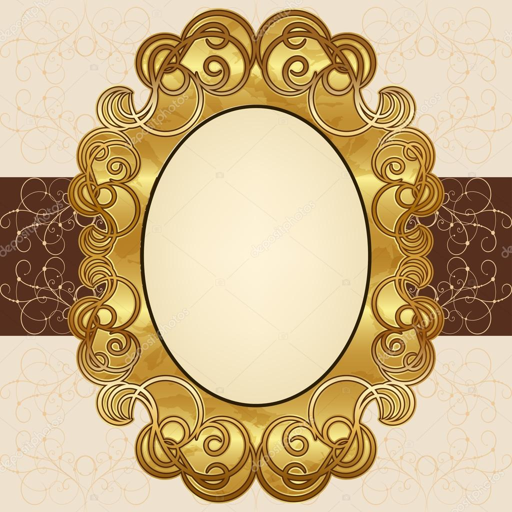marco de oro adornado — Vector de stock © dgem22 #30950291