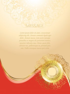 Original form for your message, greeting card