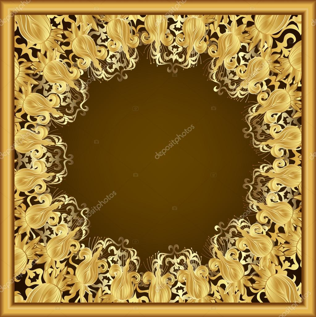 ornate gold frame stock vector 31090013