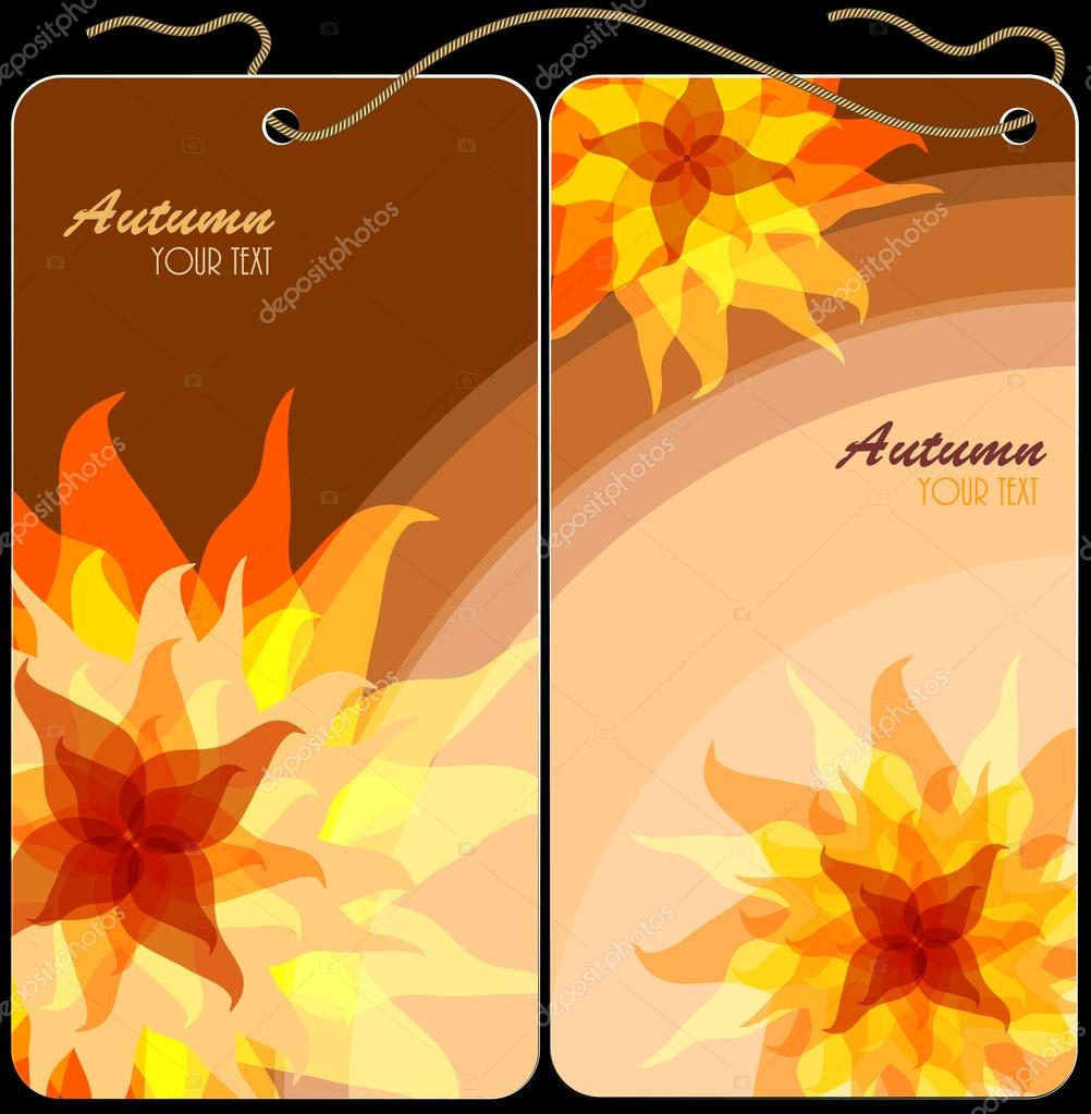 Autumn flowers idea to design greeting cards business cards autumn flowers idea to design greeting cards business cards labels for clothes magicingreecefo Gallery