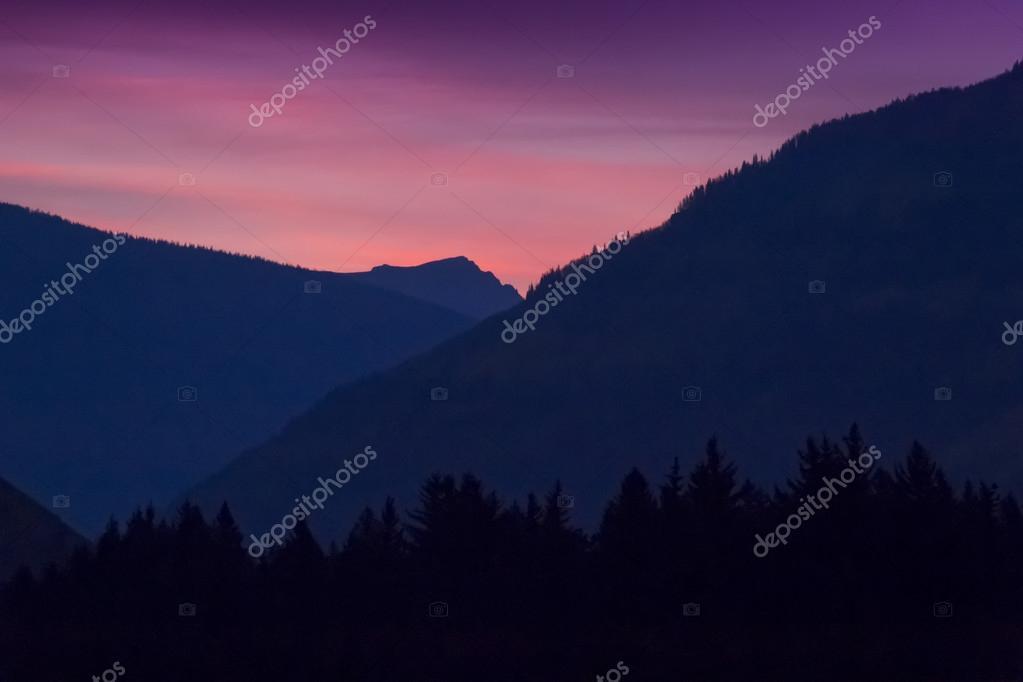 Morning mountain sunrise
