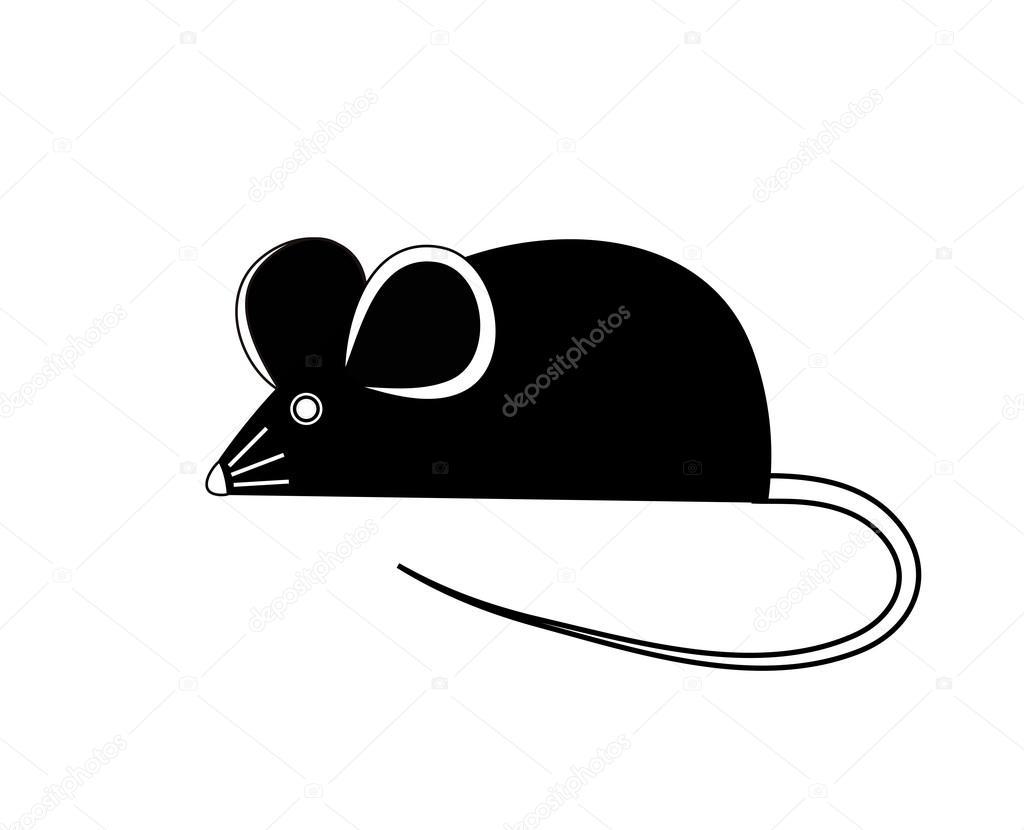 黒マウスベクトル イラスト ストックベクター Tanyakalm 41642679